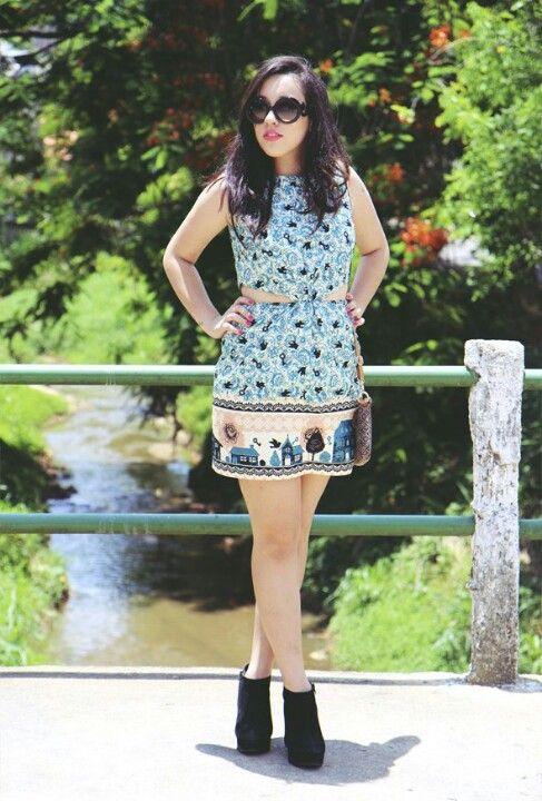 Vestido de lenço - Bruna Vieira