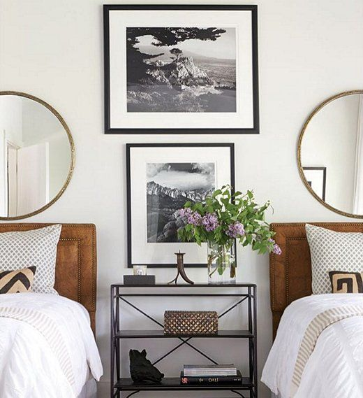 The most stylish guest room twin beds ever!