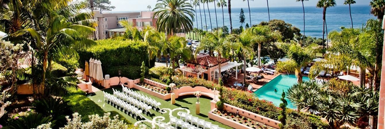 Indian Outdoor Wedding At La Valencia Hotel In Jolla Ca Ebonyloveandmarriage Venues Pinterest And Weddings