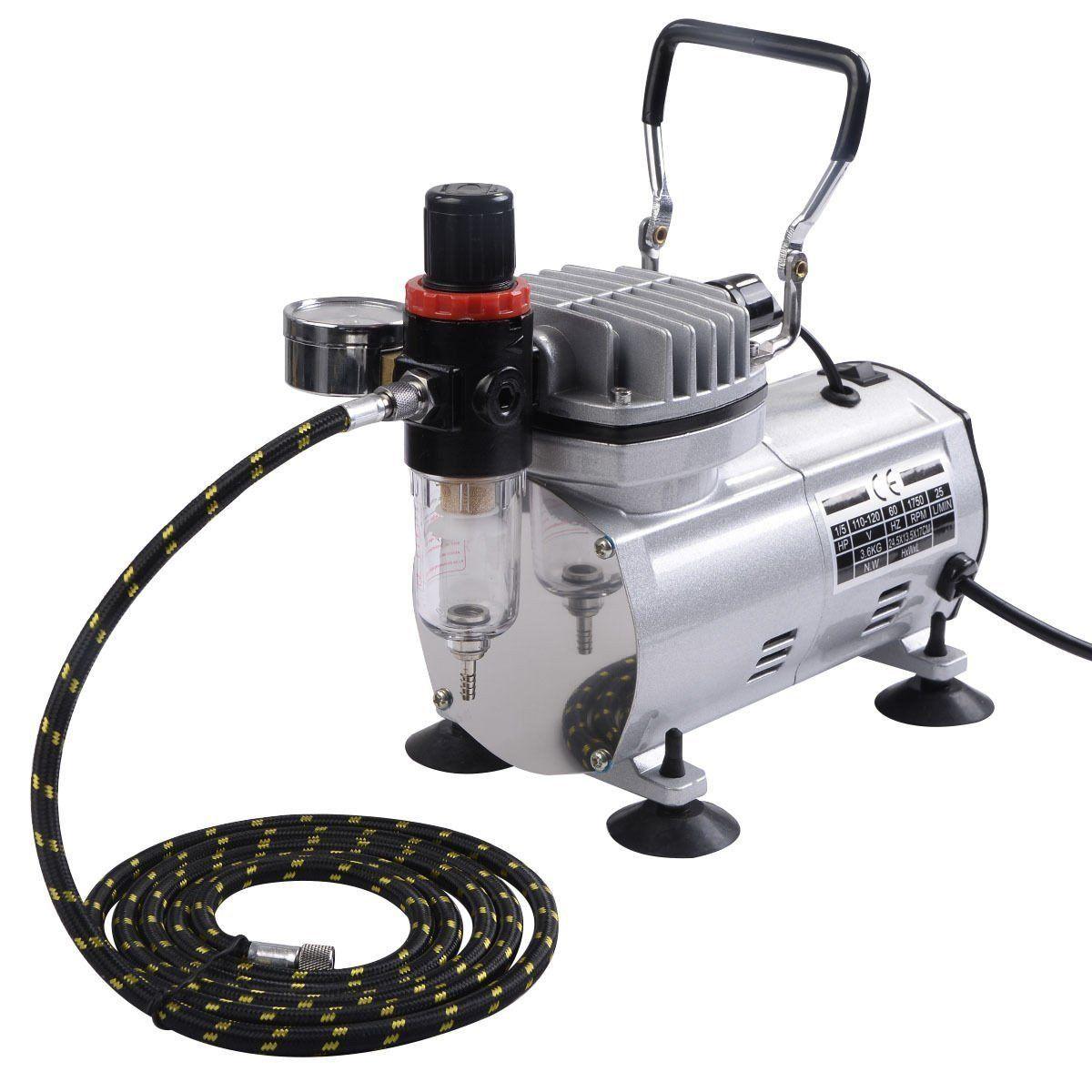 Airbrush & Compressor Kit Enamel spray paint, Airbrush