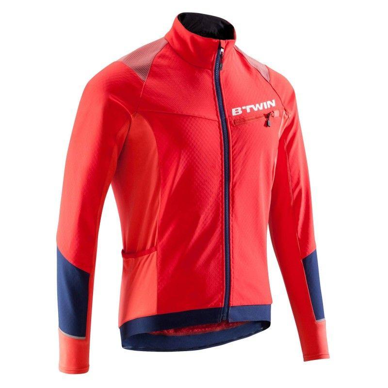 Kurtka Na Rower 500 B Twin Rowery Do Jazdy Rowerowej W Zimne Dni 2 Godzinne Wyjazdy Decathlon Pl Sprzet U Athletic Jacket Jackets Motorcycle Jacket