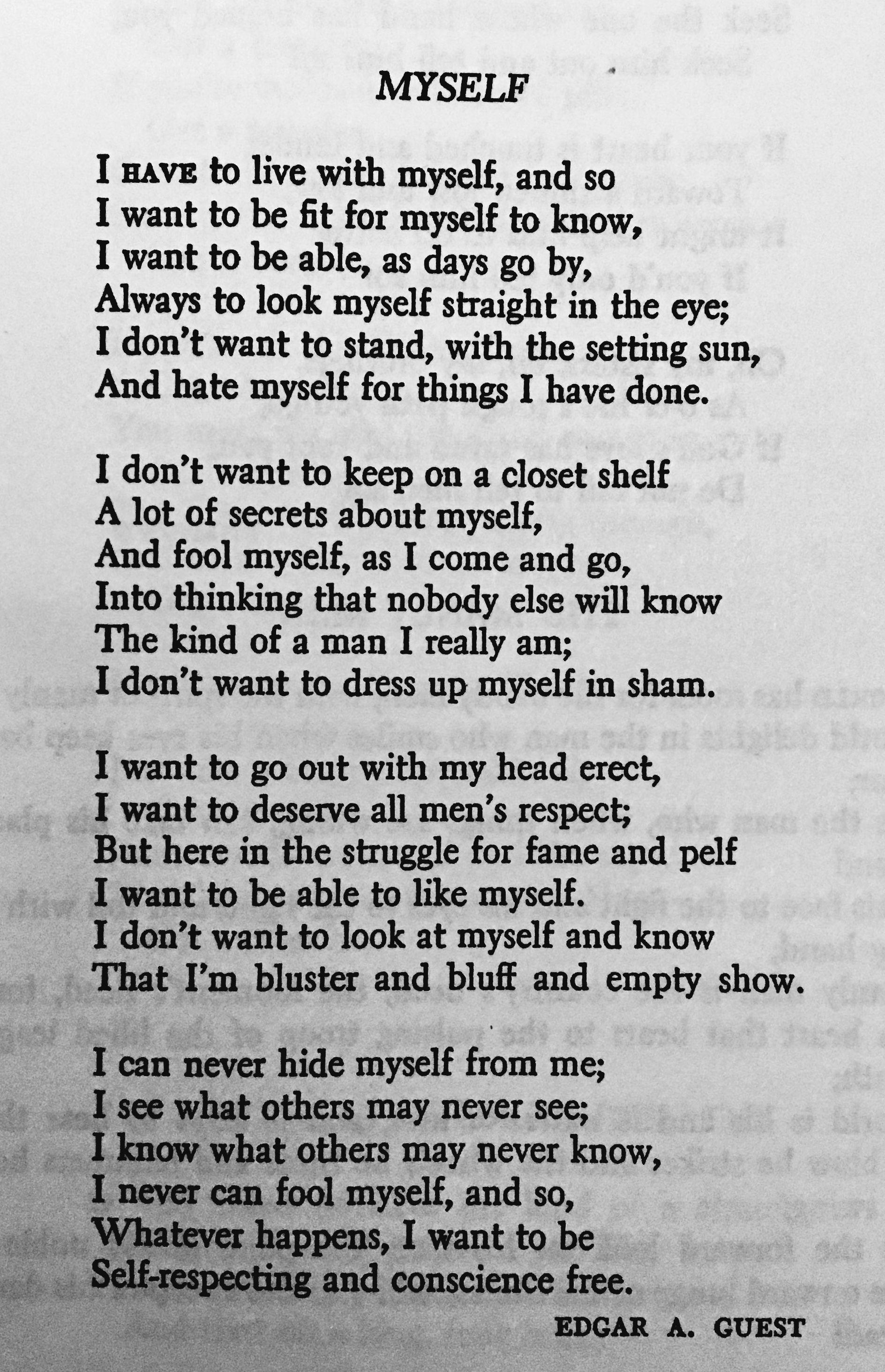 Poem Myself Edgar A Guest
