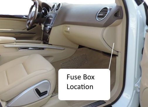 Fuses W164 M Class 2006 2011benz Box Location Fuse Chart With