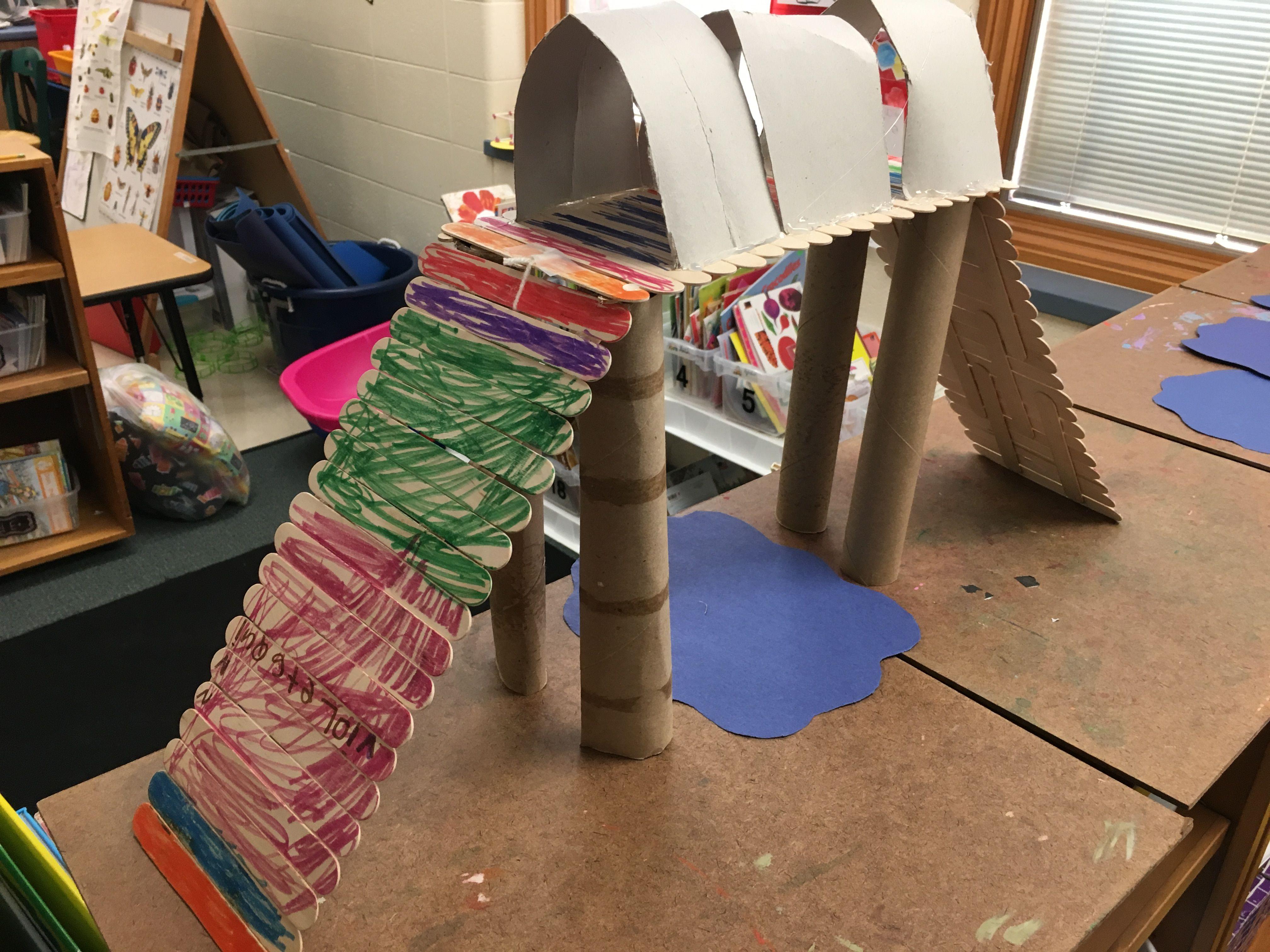 Kindergarten Stem 3 Billy Goats Gruff Challenge Bridges