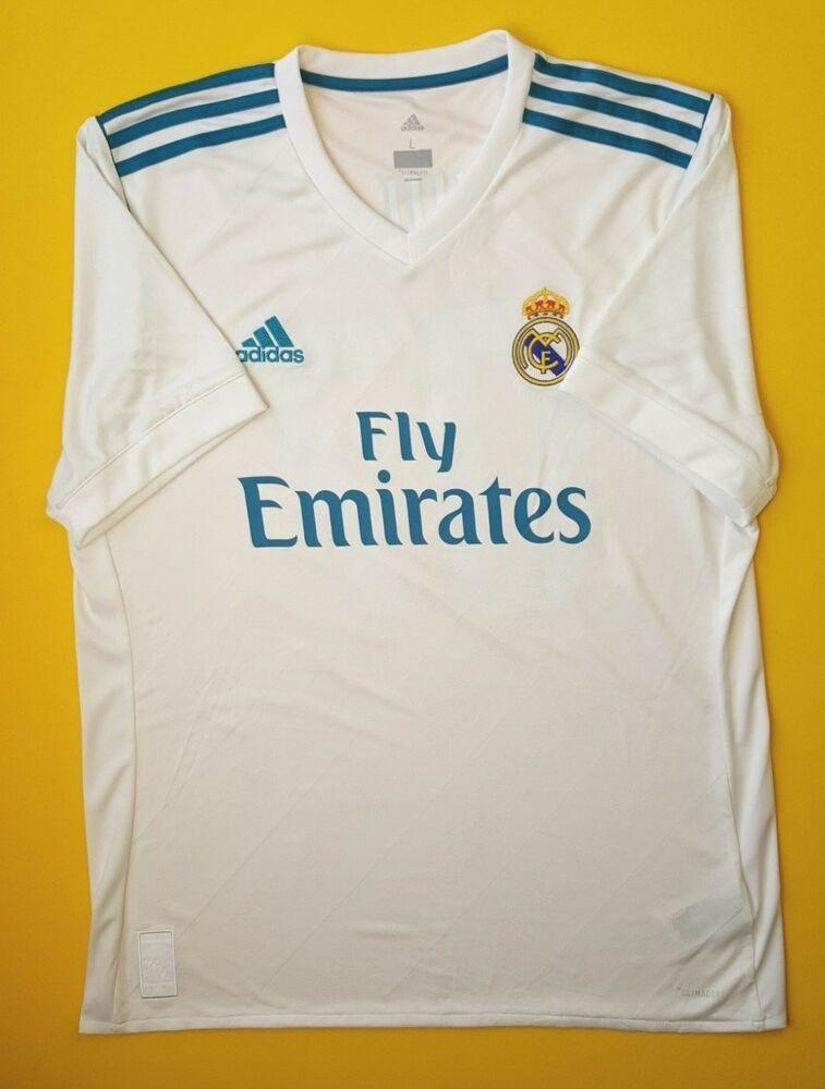 meet 1d7d4 65011 Advertisement(eBay) Real Madrid jersey LARGE 2017 2018 home ...