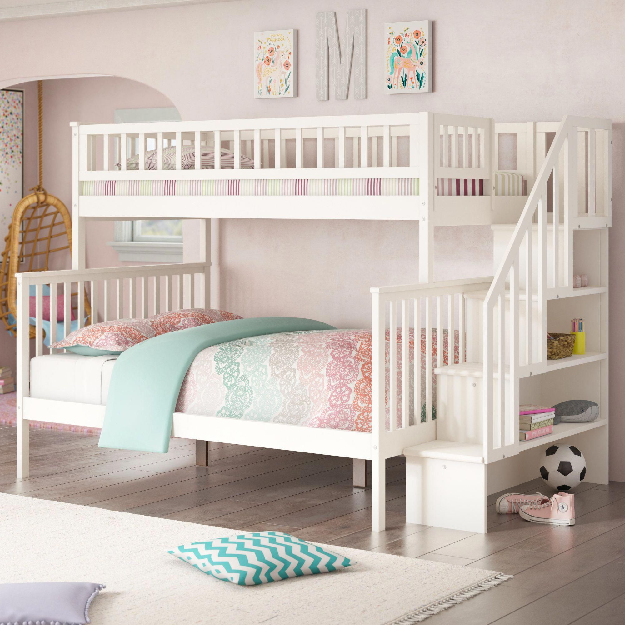 Twin Over Full Bunk Bed Kids Bunk Beds Bed For Girls Room Bunk Beds With Drawers