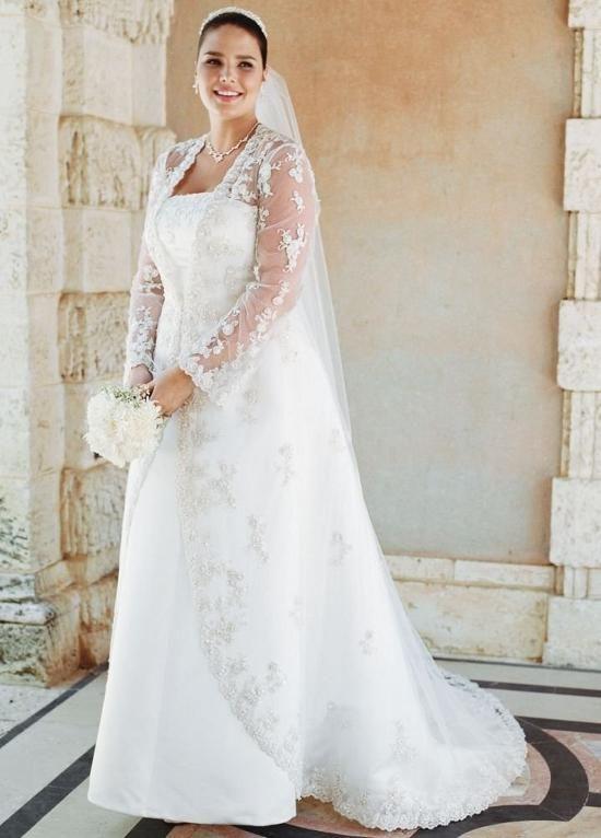 53dd3c7f87 vestido de noiva para gordinhas mangas noite