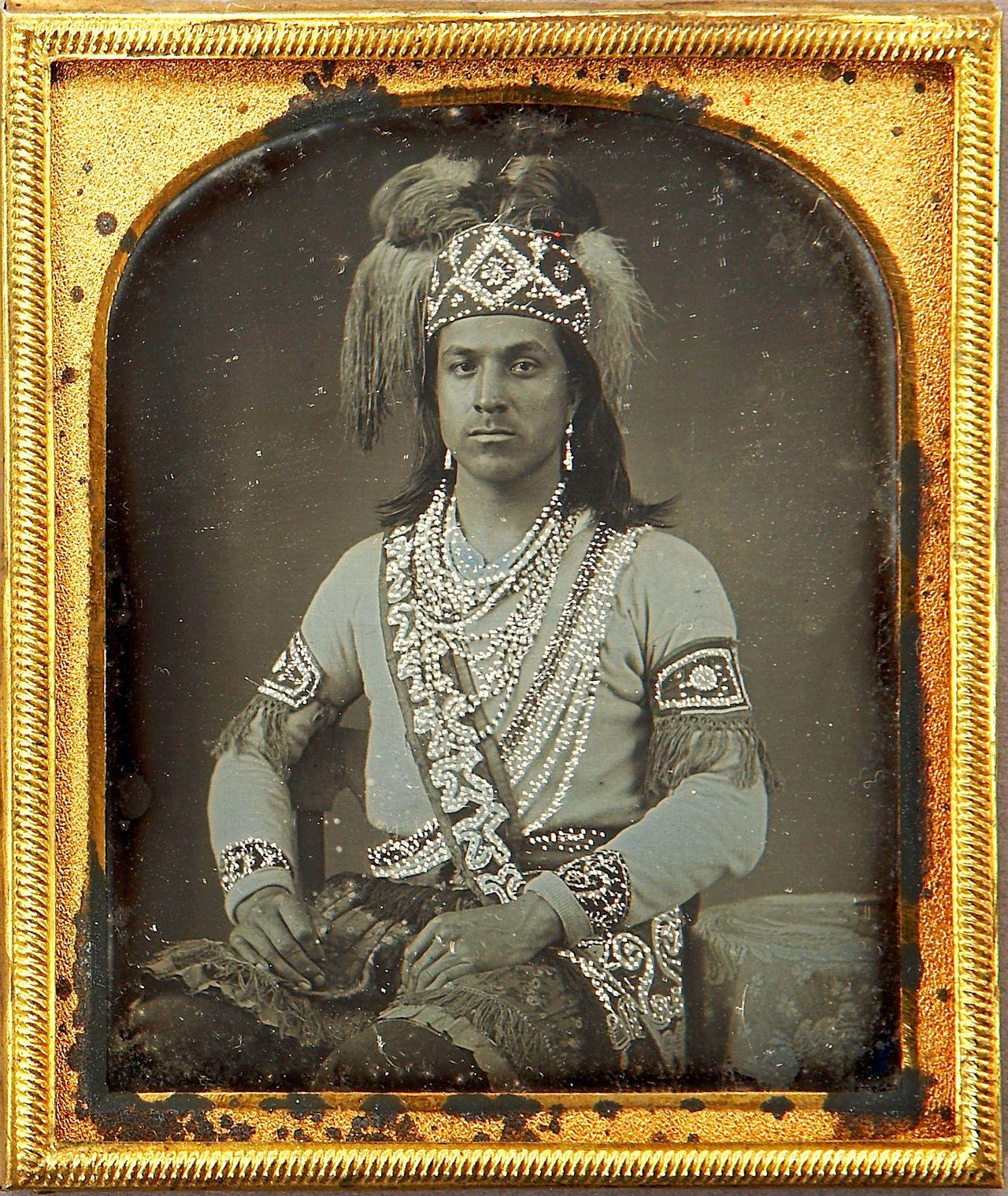 Ca Daguerreotype Portrait Of An Iroquois Man