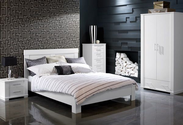 Textures And Clean Lines Masculine Bedroom Design Bedroom Furniture Sets White Bedroom Furniture