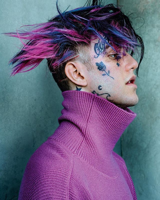 From the streets of Long Island to Echo Park hip hop's newest talent @lilpeep is more than just a stage name. In the pages of #V109 Lil Peep is captured by @mariotestino and styled by @nicolaformichetti seen here wearing @amiparis top. Hair by @hairbychristiaan and grooming @isamayaffrench. Click the link in bio to see the full spread and get your copy on newsstands now and at vmagazineshop.com.  via V MAGAZINE OFFICIAL INSTAGRAM - Celebrity  Fashion  Haute Couture  Advertising  Culture  Beauty