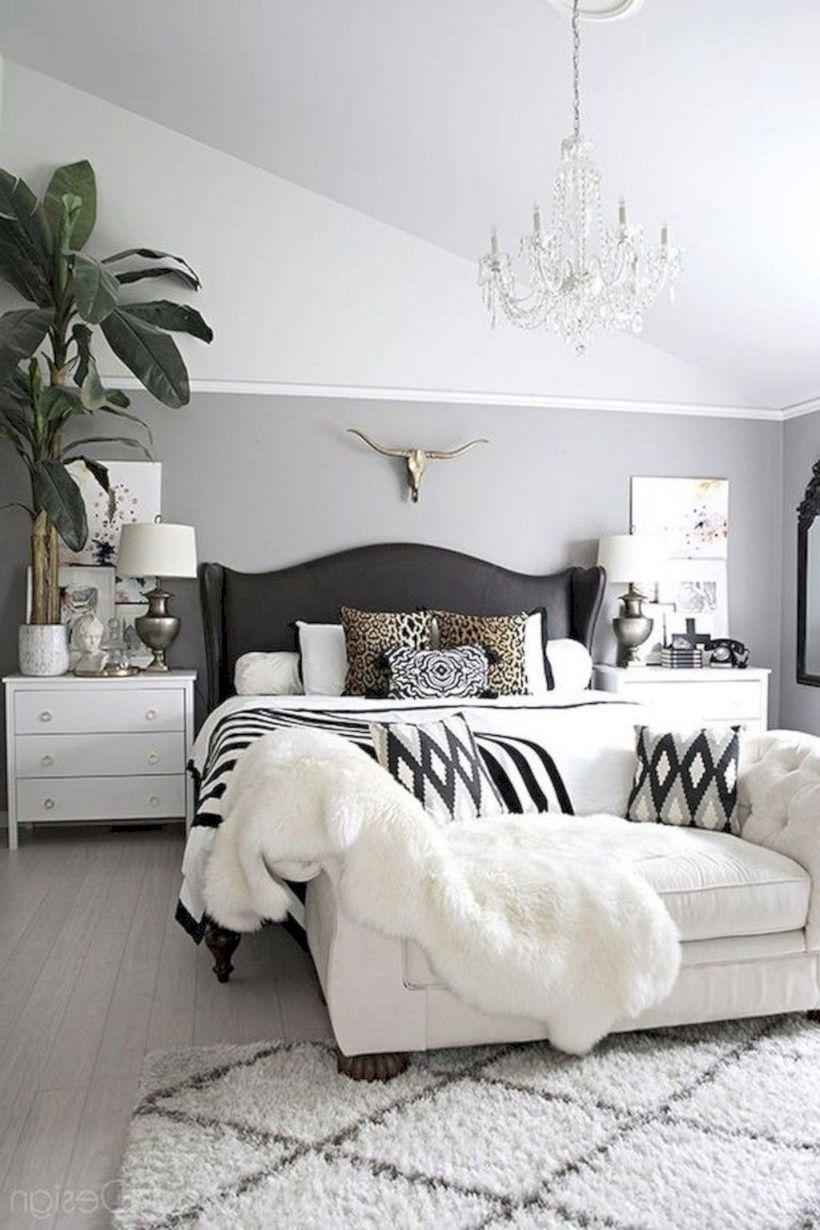 51 Unique White Minimalist Master Bedroom Design Ideas ...