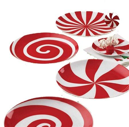 Image detail for -Peppermint Appetizer Plates (Set/4)  sc 1 st  Pinterest & Image detail for -Peppermint Appetizer Plates (Set/4) | 14 ...
