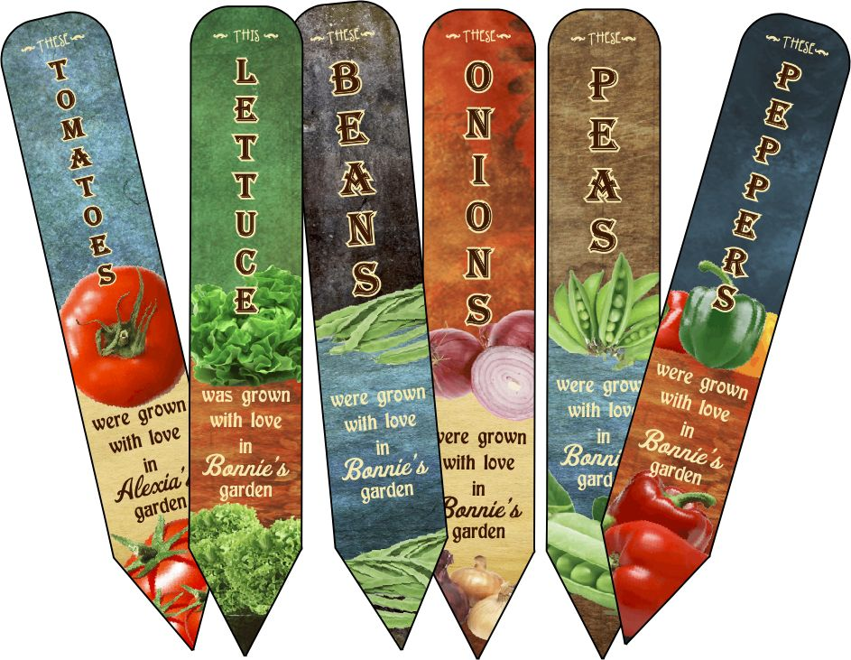 Personalized Garden Markers Stakes