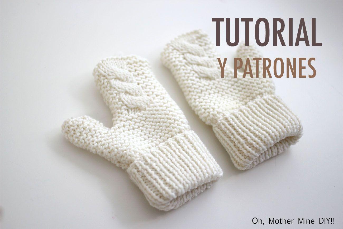 DIY Cómo hacer guantes para niños (patrones gratis) | bebes ...