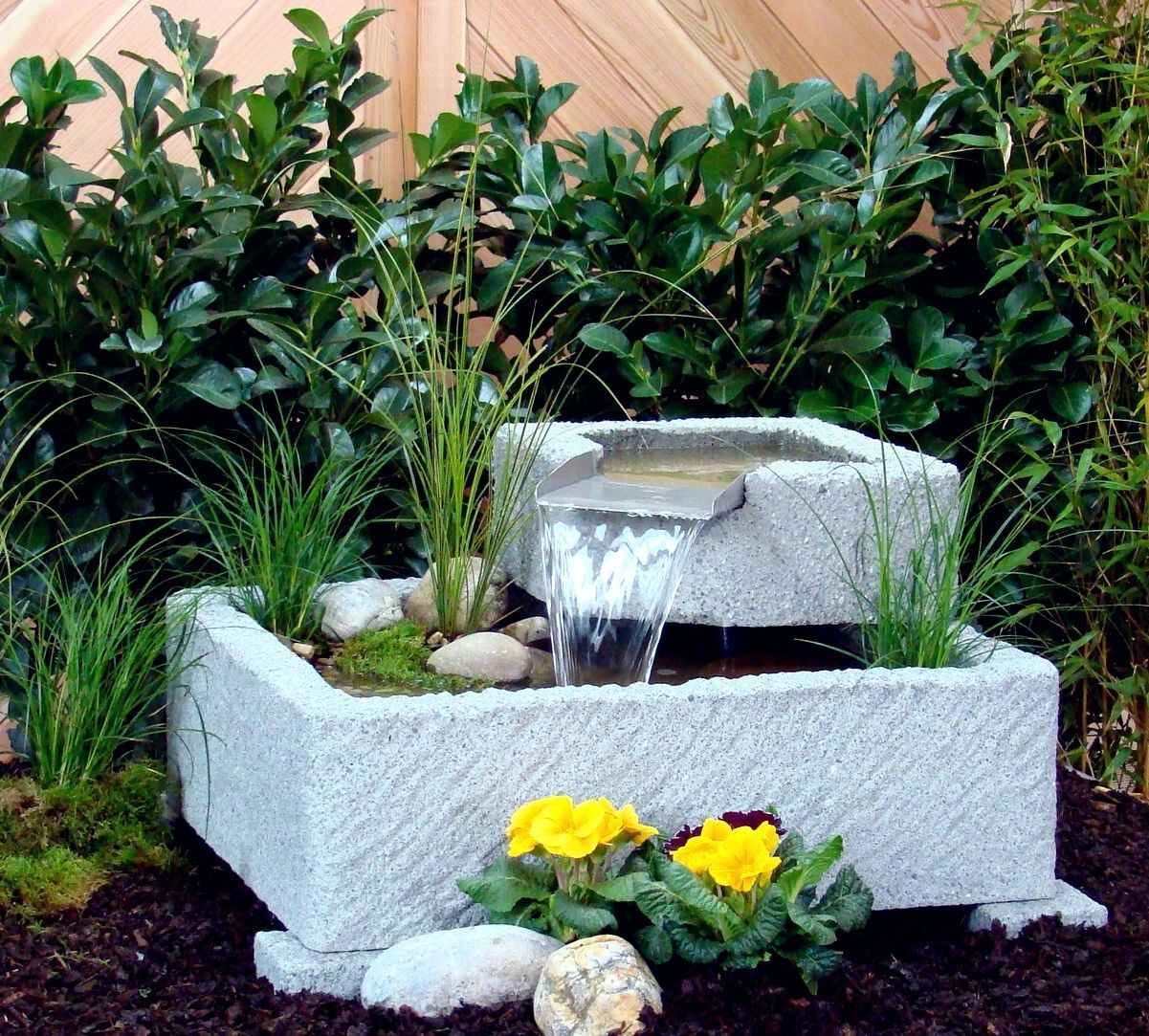springbrunnen brunnen wasserspiel granitwerkstein stein 118kg living garden. Black Bedroom Furniture Sets. Home Design Ideas
