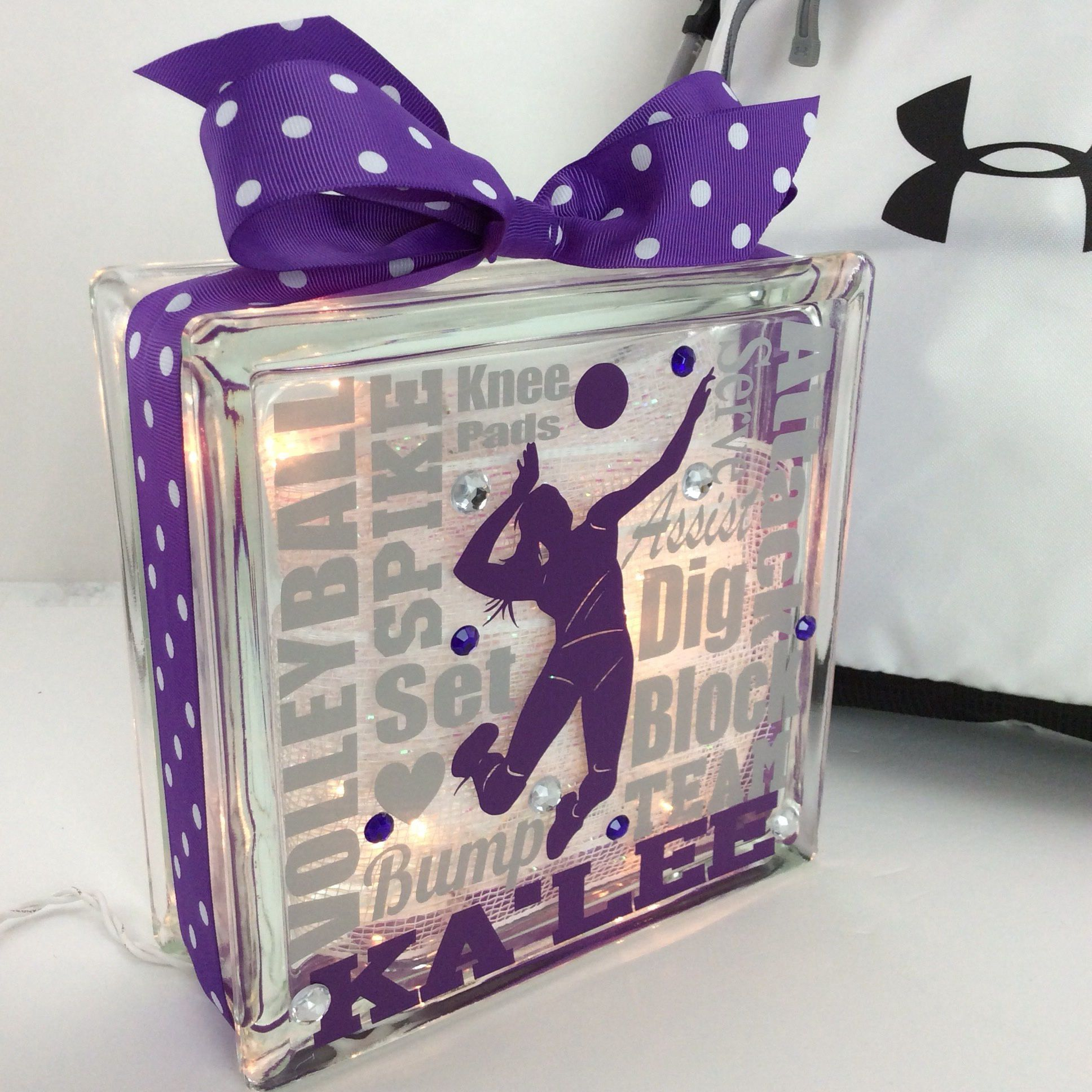 """Such a nice note from this customer - ★★★★★ """"I had special requests for this item and it came out AWESOME!! Shipped quickly - the coach I gave it to absolutely LOVED it. Thank you !""""  http://etsy.me/2ji5ERO #etsy #housewares #homedecor #typography #glassblock #lockerde"""