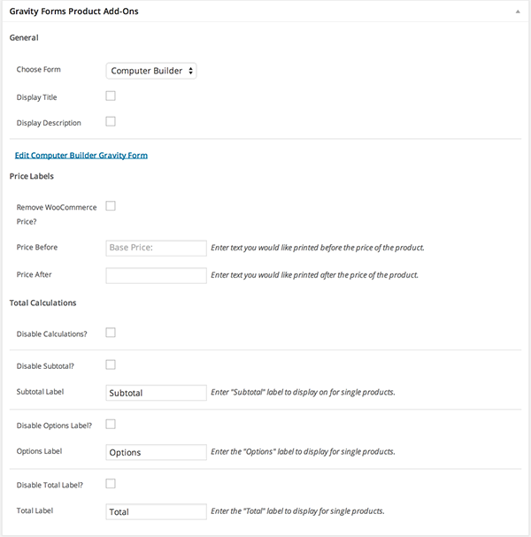 Woocommerce Gravity Forms Product Add Ons Woocommerce Docs Woocommerce Woocommerce Tutorials Text You