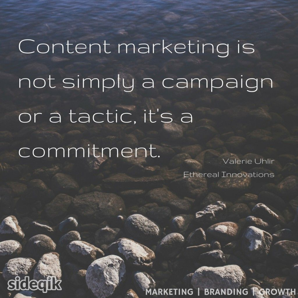 quote Valerie Uhlir content marketing is not simply a