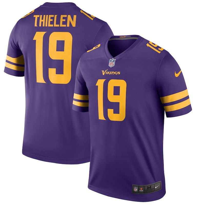 Adam Thielen Minnesota Vikings Nike Color Rush Legend Player Jersey – Purple 169f84ab8