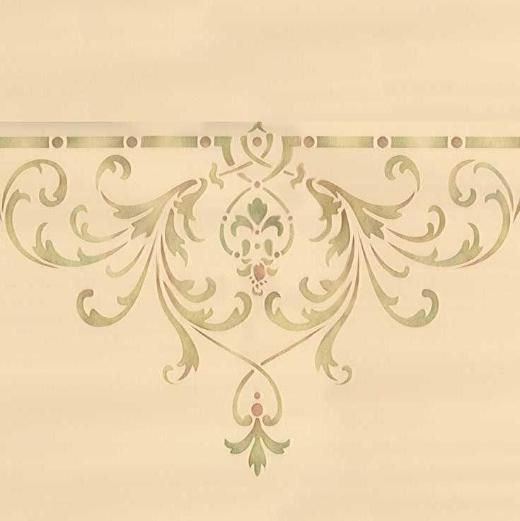 Hampton center ceiling stencil schablonen schablonen dekoration und dekor - Orientalische wandgestaltung ...