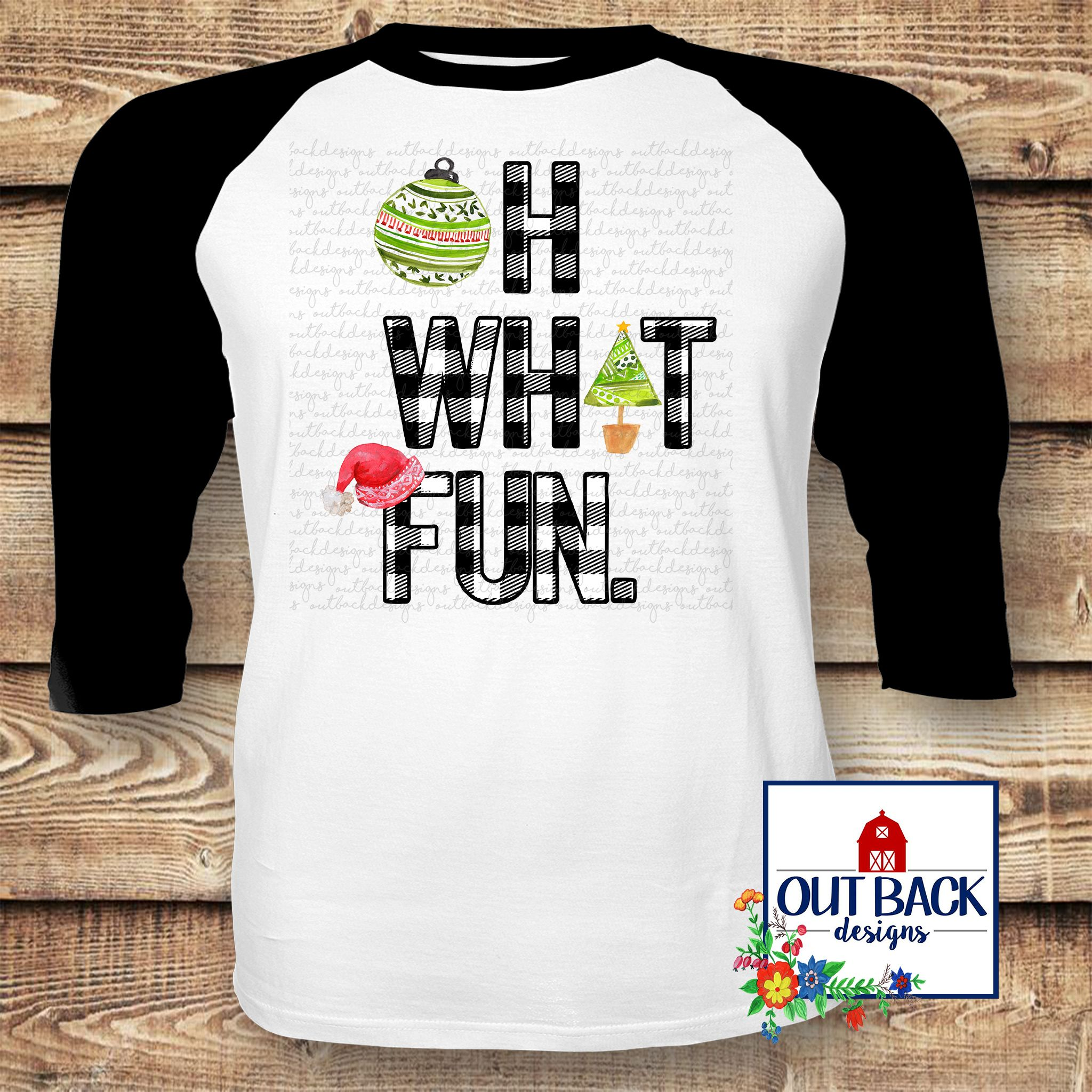 Oh What Fun Sublimated T Shirt Ladies Christmas Shirts 3xl
