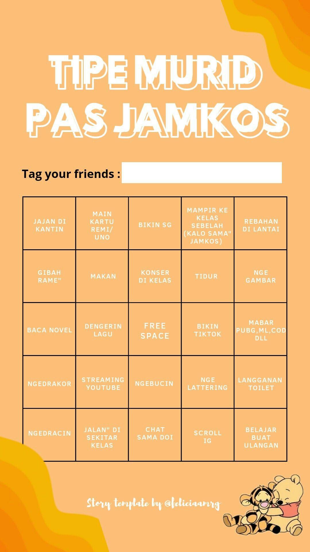 Template Bingo Indonesia Di 2020 Kutipan Persahabatan Terbaik Teks Lucu Kutipan Pelajaran Hidup