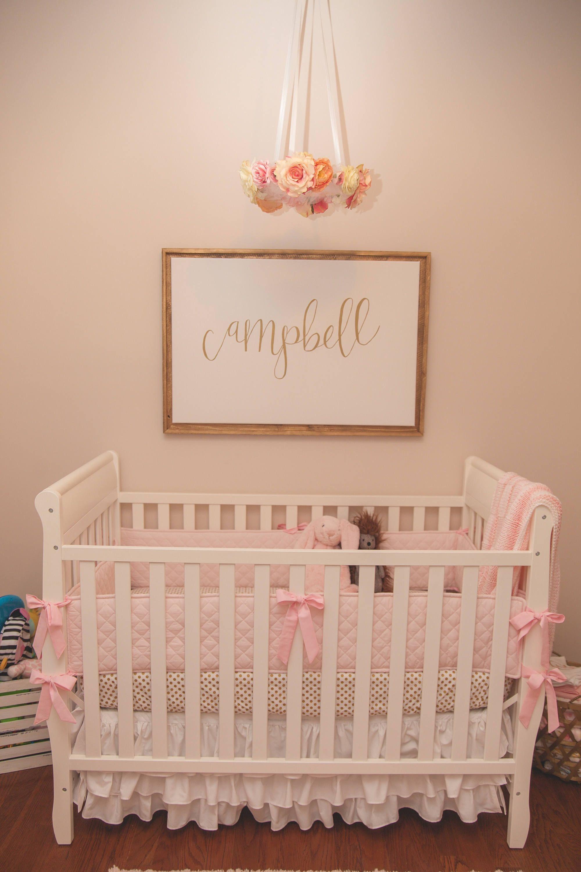 Baby Boy Cribs: MOM'S CHOICE/Baby Girl Pink Crib Bumper Or Baby Boy Blue