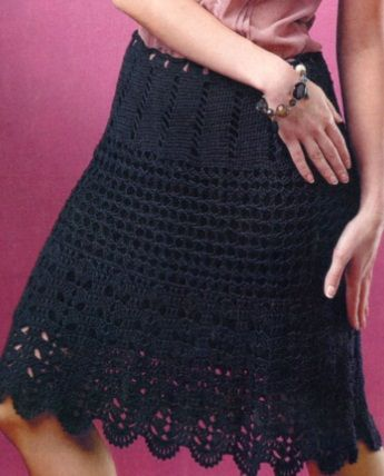Вязать юбку крючком онлайн