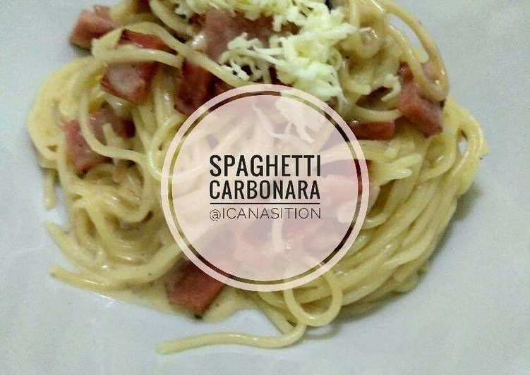 Resep Spaghetti Carbonara Oleh Cacaseren Resep Spageti Resep Wajan