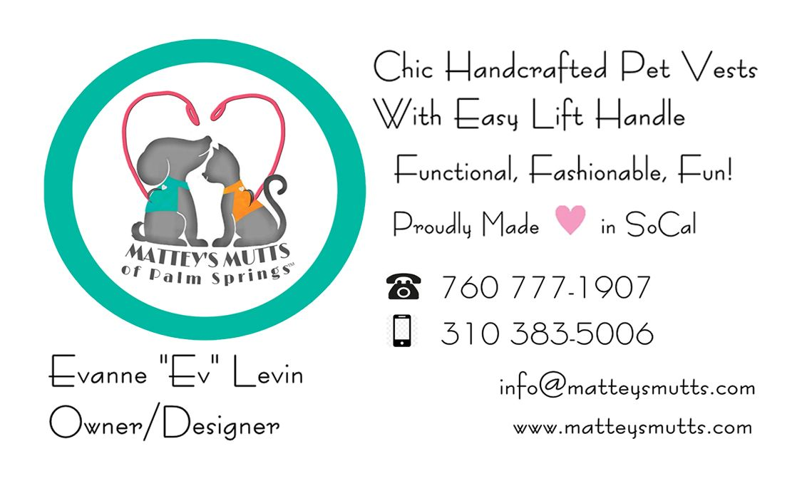 Business card front Handcraft, Small breed, Small dog
