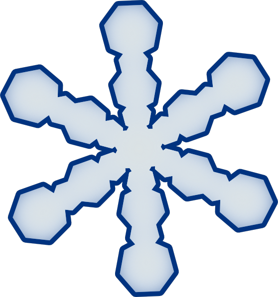 Snowflake Clipart Simple Snowflake clip art vector