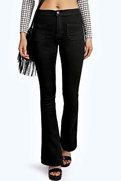 Amy 70is Kick Flare High Rise Jeans