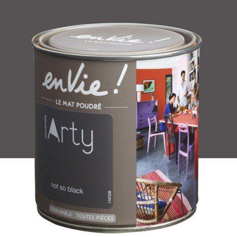 Peinture not so black LUXENS Envie collection arty 05 l déco - deco peinture entree couloir