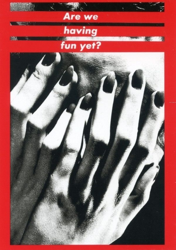 Are We Having Fun yet? Barbara Kruger Photo Collage Postcard Woman ...