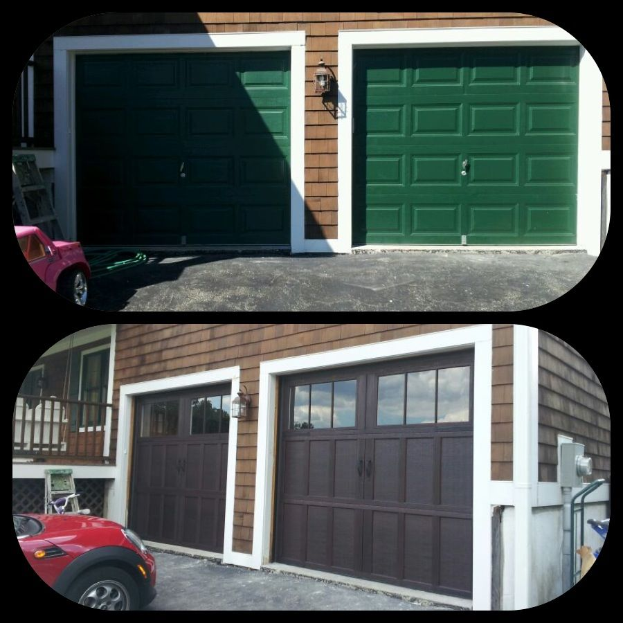 Before U0026 After Installation Pictures. From Green To Mahogany. Wayne Dalton  9700 Overhead Doors
