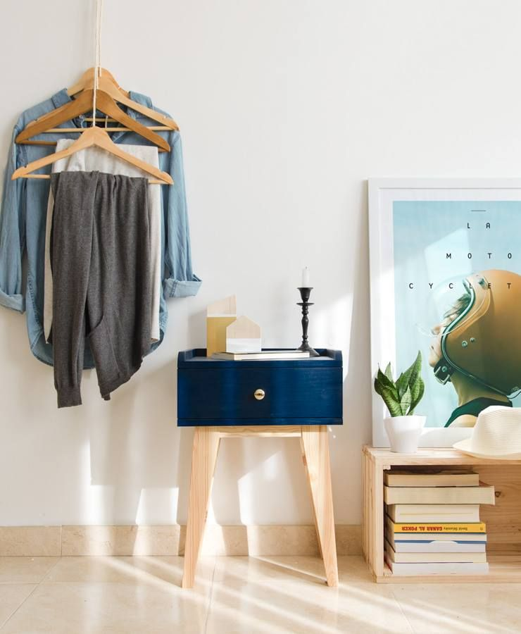 """Nightstands For Small Spaces nordic, midcentury nightstand. mesita nordica. """"mubica""""   mubica"""