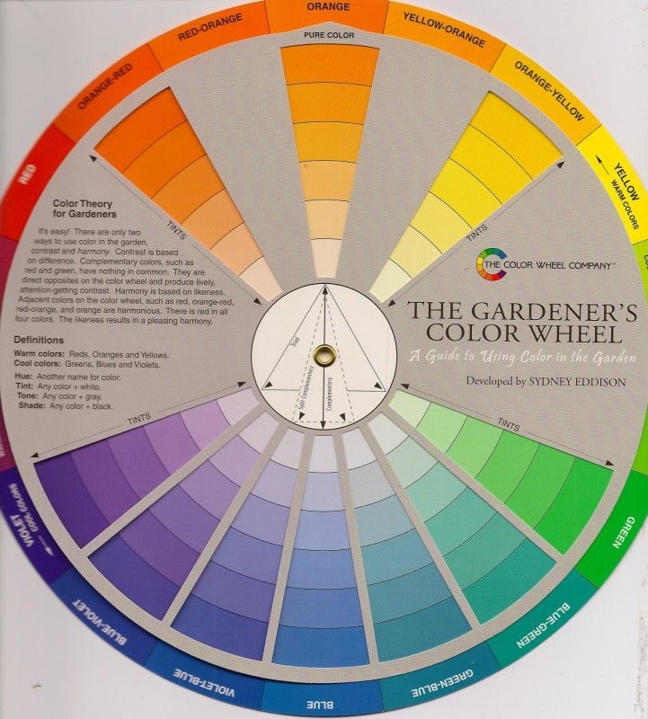 The Gardener S Color Wheel By Sydney Eddison Using Contrast And