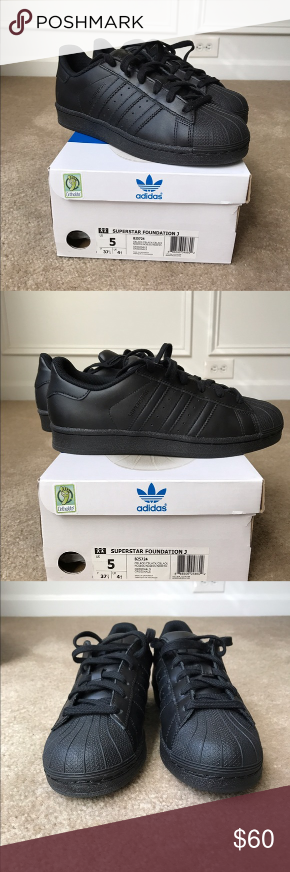 Perceptible Guinness Pío  Adidas Superstar - All Black | Adidas superstar, Shoes sneakers adidas,  Adidas