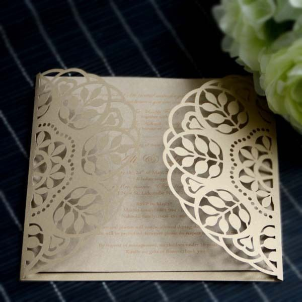 Paper craft products royal decorate wedding invitation card