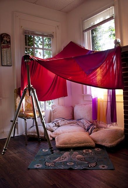 Window Corner Blanket Fort Deken Fort Dekens Voor Kinderen