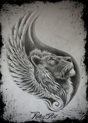 Trendy tattoo lion sketch deviantart Ideas