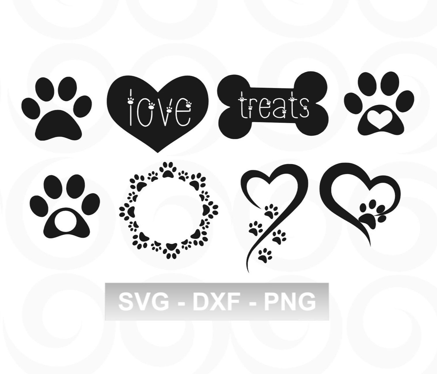 Dog Svg Paw Svg Pet Svg Paw Print Svg Heart Svg Etsy In 2020 Monogram Svg Dog Tattoos Vinyl Designs