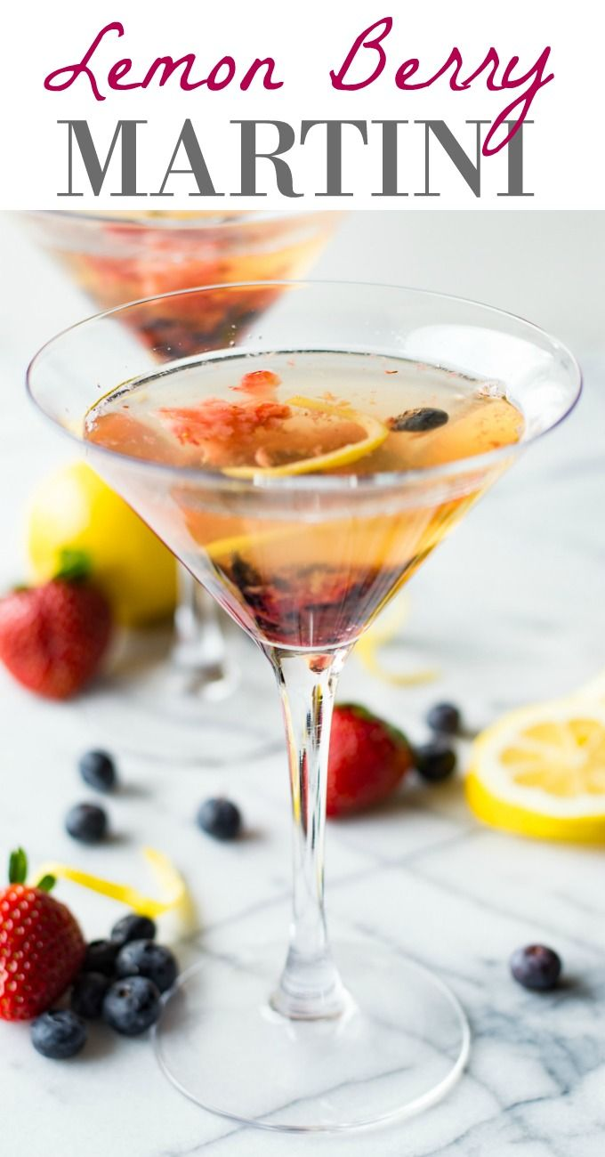 This Lemon Berry Martini is a fun and refreshing cocktail ...