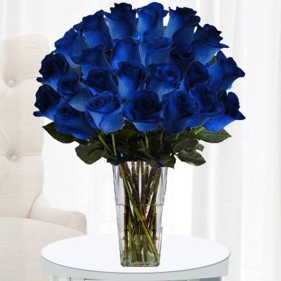 On The Hunt For Two Dozen Blue Color Roses For Someone Special Fiesta Roses Unique Flowers Delivery Pros Are At You Blue Rose Bouquet Blue Roses Rose Bouquet