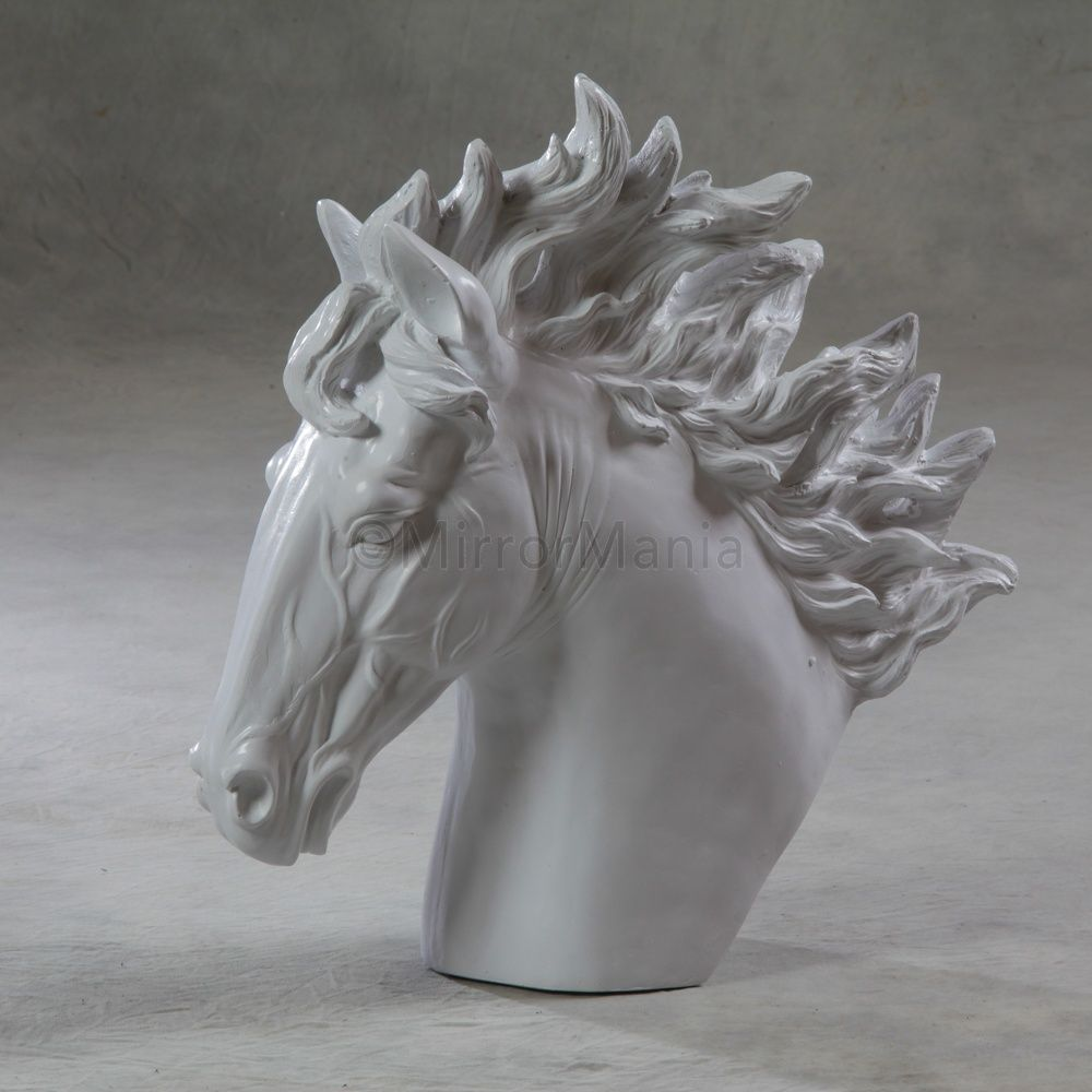 Large White Horse Head Statue - Unusual Accessories - Home Decor ...