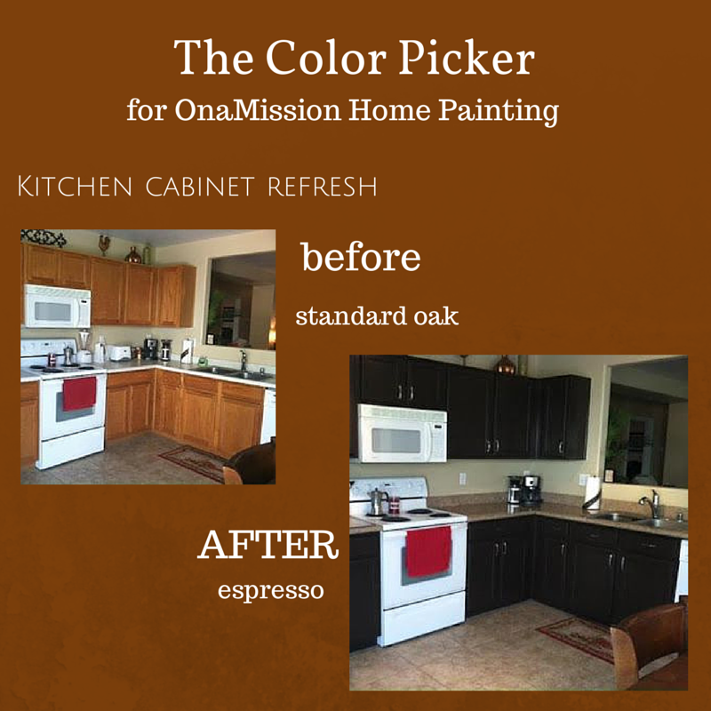 Espresso Colored Kitchen Cabinets: Kitchen Cabinets Before And After