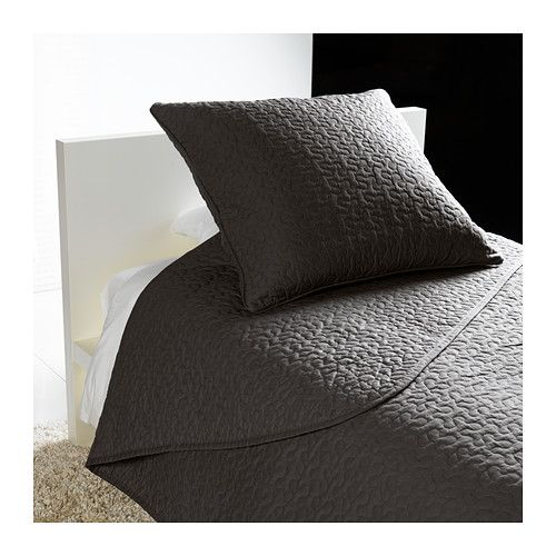 ALINA Bedspread and 2 cushion covers - dark gray, Twin/Full ... : dark gray quilt - Adamdwight.com