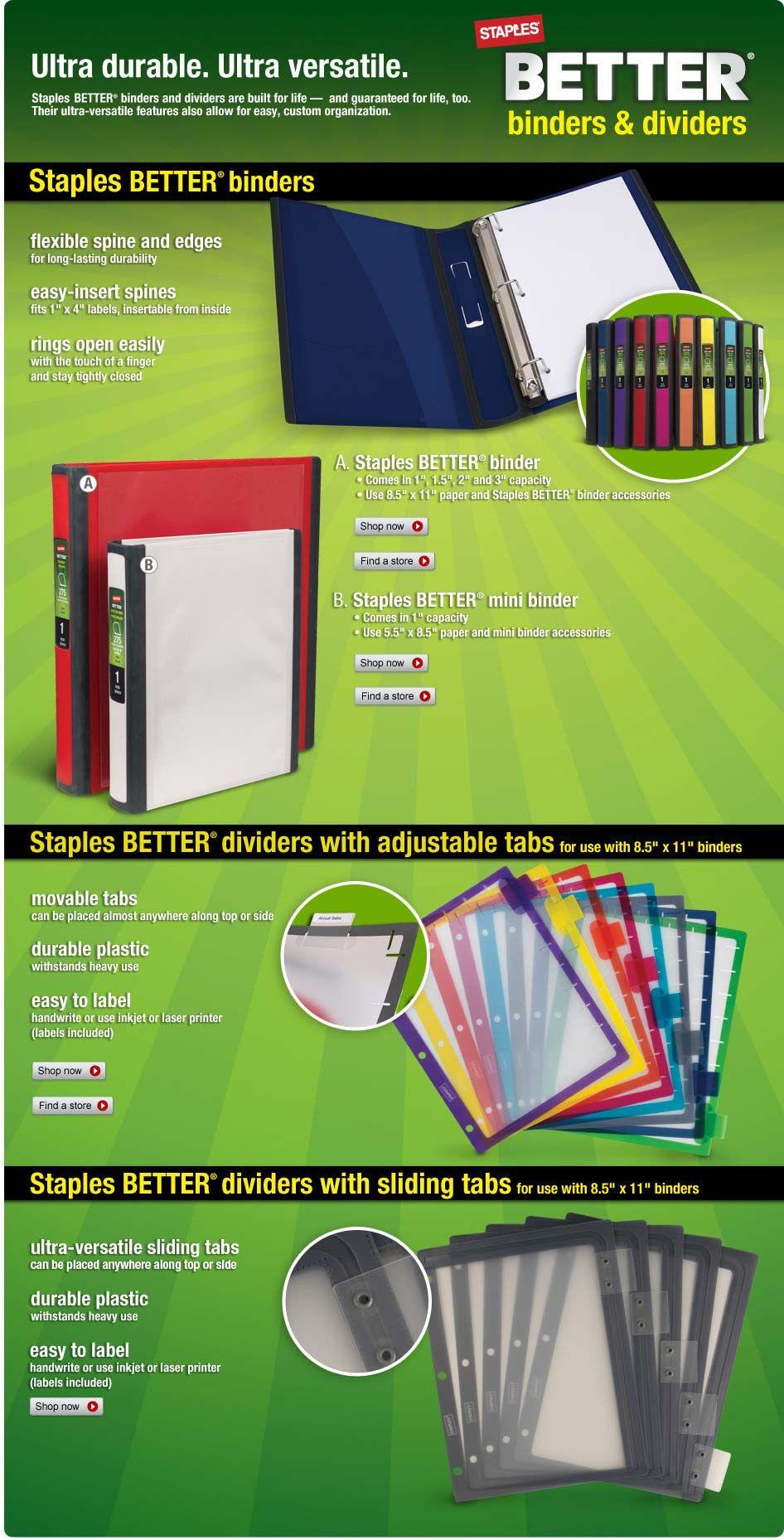 staples better binders and dividers binder dividers. Black Bedroom Furniture Sets. Home Design Ideas