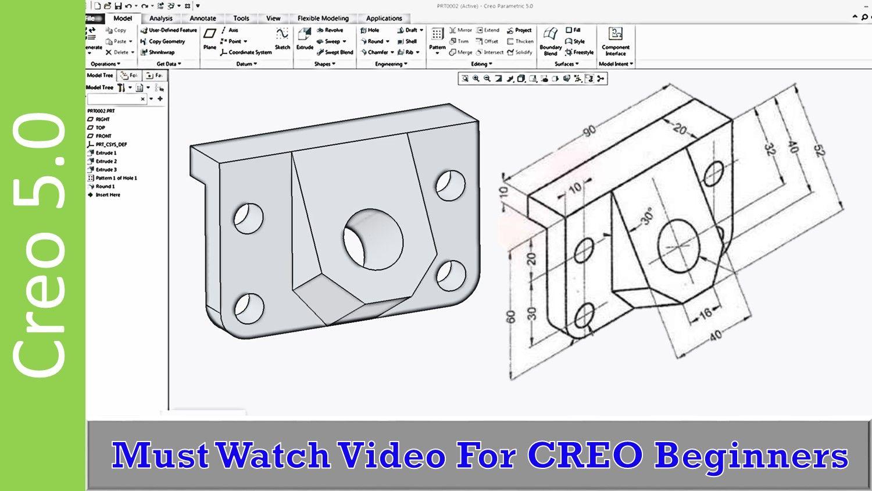 Creo 5 0 Absolute Beginners 3d Modeling Tutorial 3d Modeling Tutorial Tutorial Mechanical Design