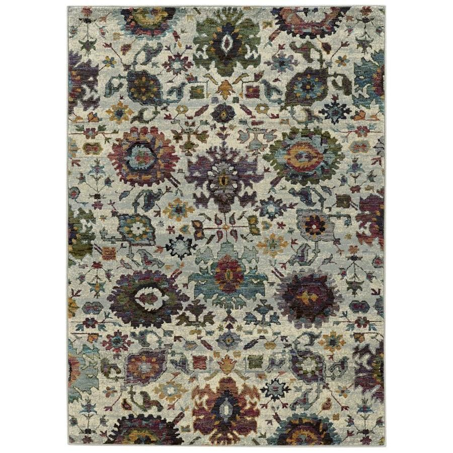 Archer Lane Valley Stone Indoor Area Rug Common 8 X 10 Actual 7 83 Ft W X 10 83 Ft L 712anr9a7l In 2020 Oriental Weavers Blue Area Rugs Rugs